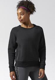 reebok elements sweatshirt black reebok womens sweatshirts