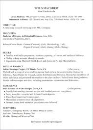 Microbiologist Resume Sample by Little Work Experience Bigraphicsgoodresume 1 Sample Resume No How