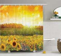 Sunflower Yellow Curtains by Sunflower Bathroom Accessories And Decor