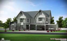 Kerala Sloped Roof Home Design by Cool Villa Homes On Traditional Villa With Courtyard Kerala Home