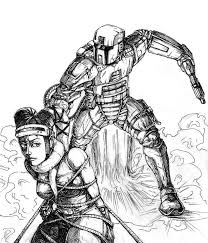 mandalorian and twilek scetch by flick the thief on deviantart