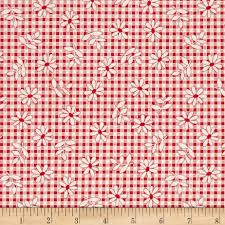 Plaid Home Decor Fabric Penny Rose Chatterbox Aprons Gingham Red Accent Colors Gingham