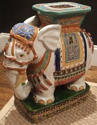 elephant end tables ceramic chinoiserie chic elephant garden stool high low chinoiserie