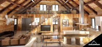 chalet cuisine chalet habitable de 80m en bois en kit avec photo hd prod chalet