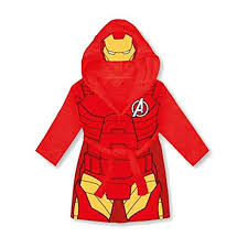 ironman halloween costume iron man marvel avengers kids hooded bathrobe fleece dressing gown