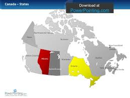 canada states map powerpoint canada map