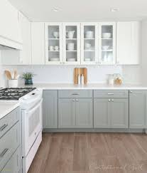 kitchen cabinets white top gray bottom cathy cabanaw cate0815 profile