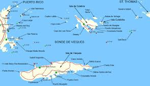 The Map Of Puerto Rico by Vieques And Culebra The Islands Of Puerto Rico El Canario