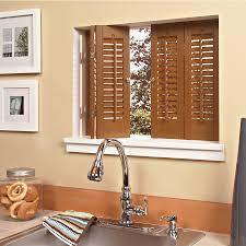 Kitchen Window Shutters Interior Captivating Window Shutters Interior White Color Wood Material