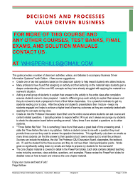solution manual for business driven information systems 5th