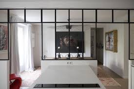 verriere separation cuisine furnished parisian apartments with glazed partitions to inspire you