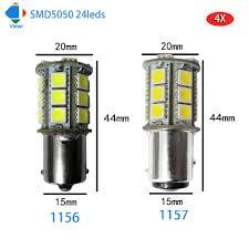 Led Auto Lights Viewi 4pcs 1156 1157 Led Car Light Auto Bulb 12 Volt Turn Lights