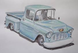 Vintage Ford Truck Art - speed drawing of a truck youtube