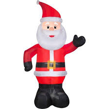 Air Blown Christmas Decorations 10 U0027 Airblown Christmas Inflatable Santa Yard Outdoor Decoration