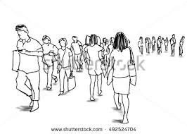 group hand drawn business people sketch stock vector 376349368