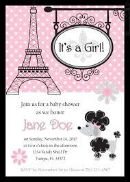 parisian baby shower invitations iidaemilia com