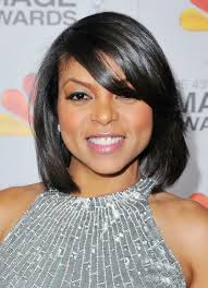 2017 taraji p henson short angled bob haircut for black women