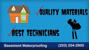 connecticut basement waterproofing 203 204 2900 youtube