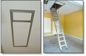 garage attic ladder ladder to storage attic lowered best garage