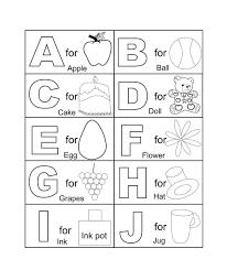 preschool coloring pages alphabet coloring pages