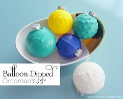 diy balloon dipped ornaments school of decorating