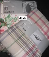 Ikea Blanket Ikea Hermine Throw Blanket Afghan Pink Beige Green Plaid Emmie Soft