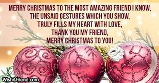 merry to the most amazing message for friends