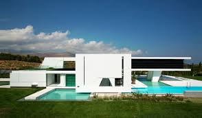 Futuristic House Floor Plans by Impressive Ultra Modern House In Athens Architecture Beast