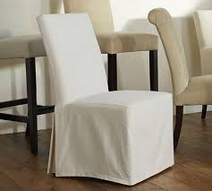 Slipcovered Dining Chair Pb Comfort Square Slipcovered Dining Chairs Pottery Barn
