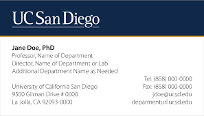 yale business card stationery communications and affairs uc san