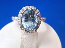 aquamarine engagement rings vintage estate 1960 u0027s aquamarine u0026 diamond bailey banks u0026 biddle
