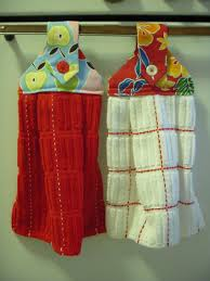 kitchen towel craft ideas hanging dishtowels allfreesewing
