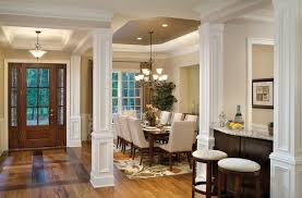 interior columns for homes dining room columns houzz