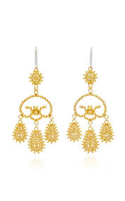 girandole earrings tribal girandole earrings by hanut singh moda operandi