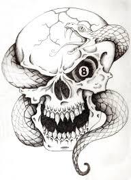 35 amazing skull and snake tattoos