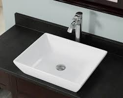 v370 white porcelain vessel sink