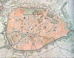 map brussels file brussels map rouge1745 jpg wikimedia commons