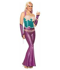 Mermaid Halloween Costume Adults Amazon Mermaid Sleeves Metallic Ariel Sea Fish Halter