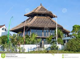 tropical beach house in bali indonesia stock photo image 56496024