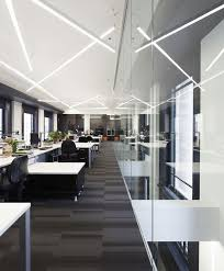 suspended led strip lighting office design and architecture