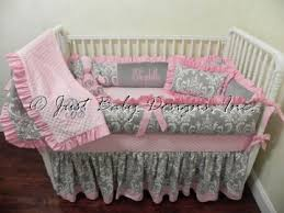 baby bedding crib set elizabeth gray and pink crib bedding just
