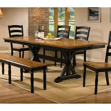 Trestle Dining Room Table by Winners Only Quails Run 84 In Trestle Dining Table With 18 In