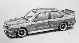 my drawing of an e30 m3 x post from r bmw autos