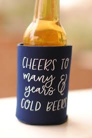 wedding koozie favors wedding favors cheers to many years and cold beers wedding can