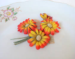 Flowers For Crafts - red flower bouquet etsy