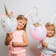 unicorn balloon craft kit unicorn party crafts party ark
