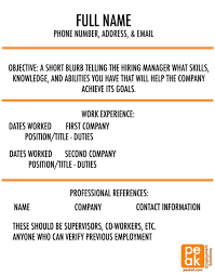 What Should Be Resume Name 2 Tips To Making Your Resume Stand Out Peak Talent Capital Solutions