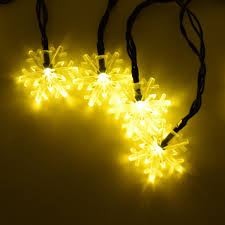 Solar Powered Patio Lights String by Warm White Snowflake 15 7 Feet 20 Led Lights Solar Indoor