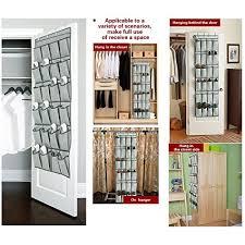 Shoe Rack For Closet Door The Door Shoe Organizers 24 Pockets And Hanging Closet