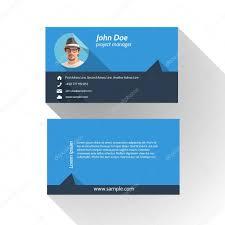 Simple Business Cards Templates Simple Modern Light Business Card Template Flat Design U2014 Stock